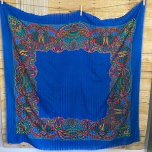 Vintage Oversized Psychedelic Cotton Scarf